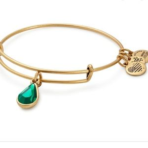Alex & Ani Emerald Tear Drop Bracelet